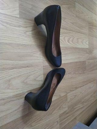 Zapatos piel numero 41 negros