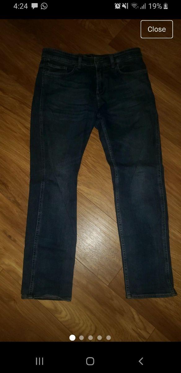 NEW Boss Dark Blue Jeans - L32 W30 Stretch Slim F