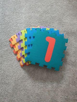 Alfombra foam puzzle de numeros