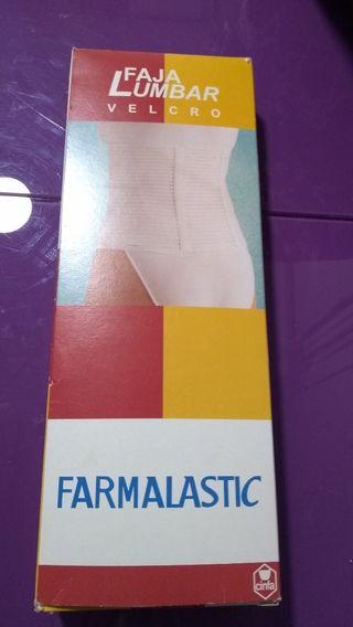 farmalastic faja lumbar velcro blanco talla 4