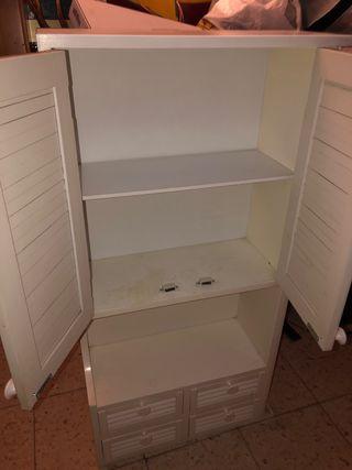 Mueble baño pared colgado