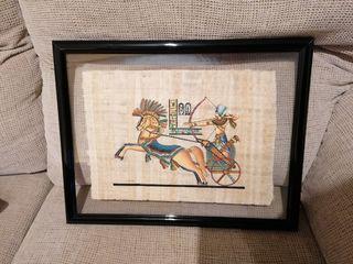 Cuadro pergamino antiguo Egipto