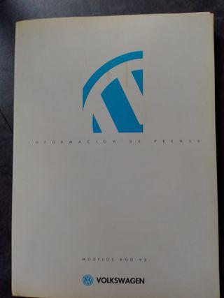Volkswagen dosier de prensa gama española 1995