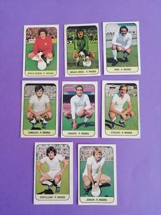 Lote 8 Cromos Real Madrid Liga Este 1978/79