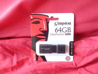 PENDRIVE USB 64 GB NEGRO - KINGSTON