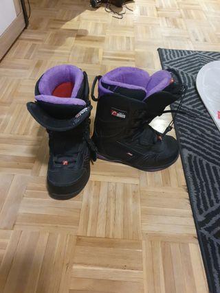 conjunto de snowboard mujer