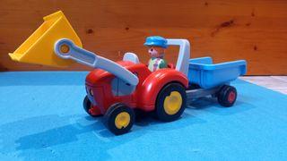 Playmobil tractor remolque