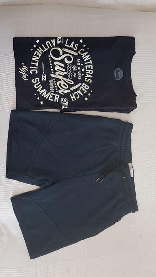 camiseta y pantalon juvenil