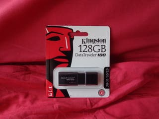 PENDRIVE USB 128 GB NEGRO - KINGSTON