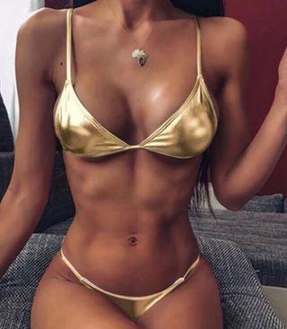 380 Bikini brasileño dorado