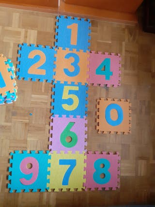 Alfombra infantil puzzle números y letras