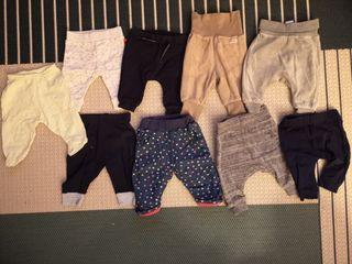 Pack 9 pantalones bebe 0-1 mes