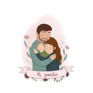 Ilustración personalizada en familia