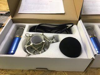 Micrófonos condensadores BM-800 azules