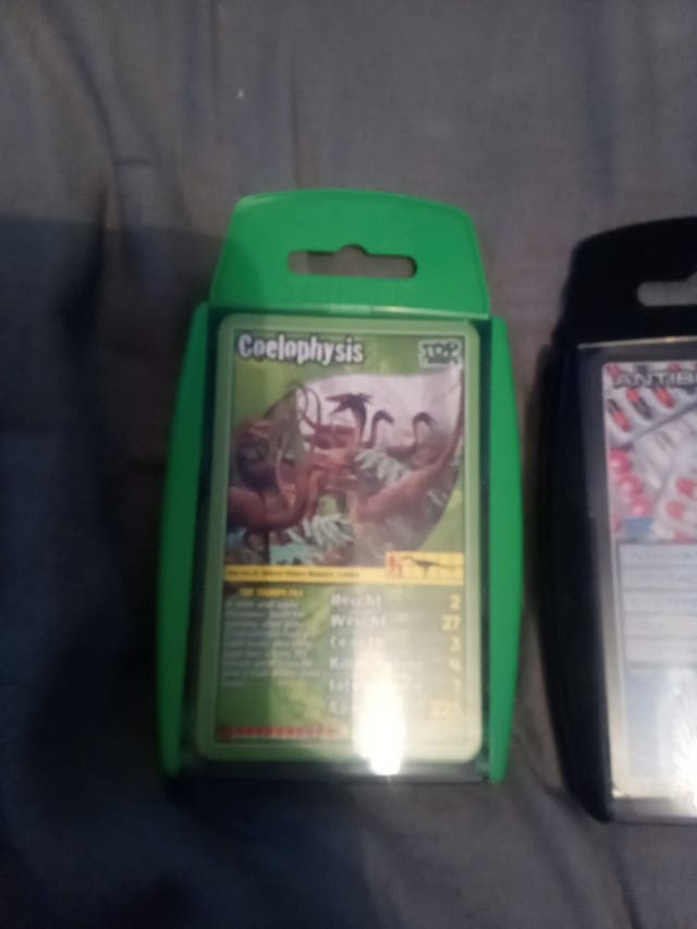 Two sets of top trumps