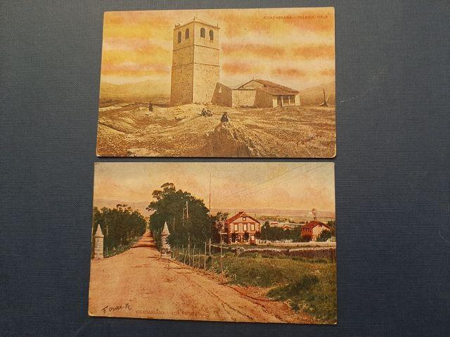 Postales coloreadas. Pueblo de Guadarrama. Madrid