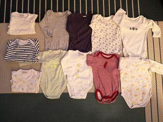 Pack de 11 bodies manga larga para bebé 0-3 meses