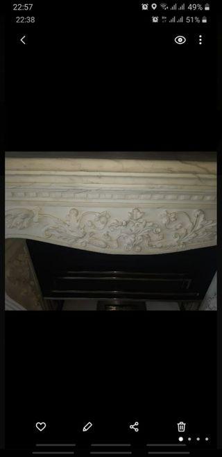 chimenea de marmol 1.60de ancho antiguedades