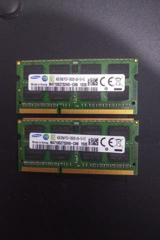 Memoria RAM DDR3 10600S 1333hz 8GB(4GB x 2)