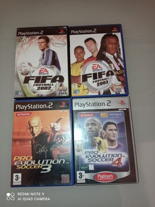 pack FIFA y pro Evolution ps2