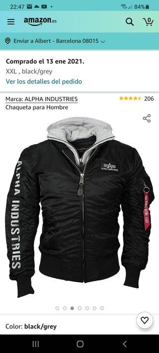 venta chaqueta alpha industries a estrenar talla L