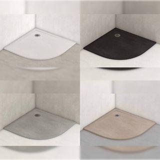 Plato de ducha antideslizante semicircular