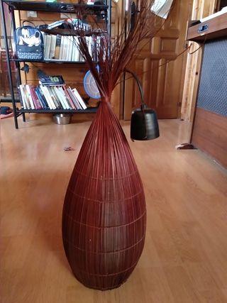 Lámpara de bambú de techo