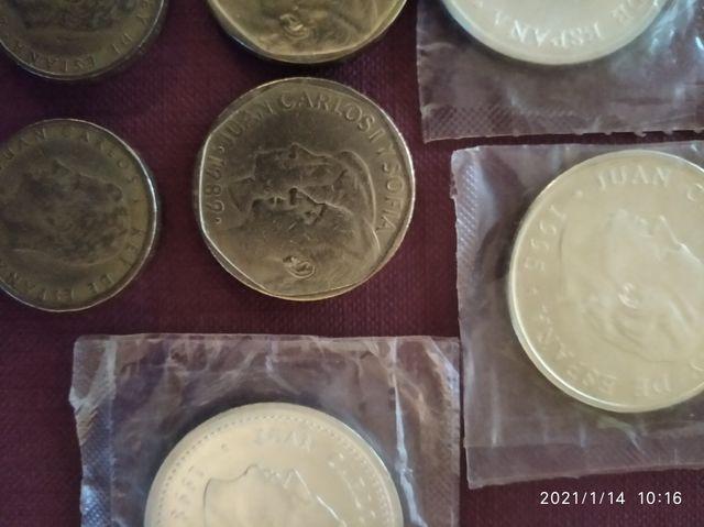 lote de monedas ptas 3 de 2000,2de 500 y 2 de cien