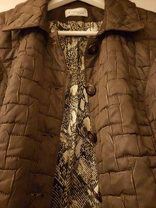 Chaqueta acolchada marrón