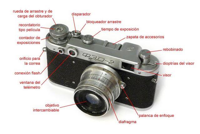 CÁMARA 35MM FED-2 COPIA LEICA Y FUNDA 1955