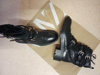Zara botines planas piel talla 39