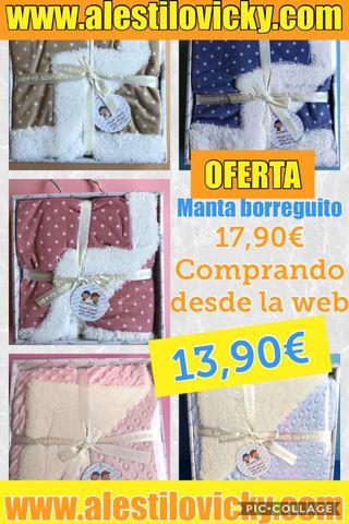 OFERTA MANTAS BORREGUITO