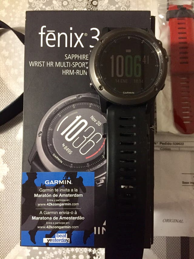Garmin fénix 3HR GPS Sapphire+banda HRM Run