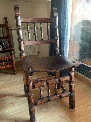 6 sillas madera maciza
