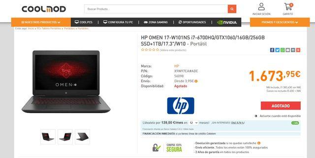 Vendo portátil HP Omen 17 Nuevo