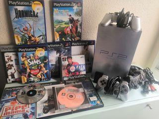 Playstation 2 con 9 juegos + 3 juegos Ps1 regalo