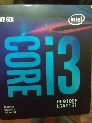 Procesador Intel I3 9100f