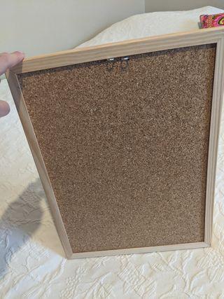 Cuadro Corcho con marco madera
