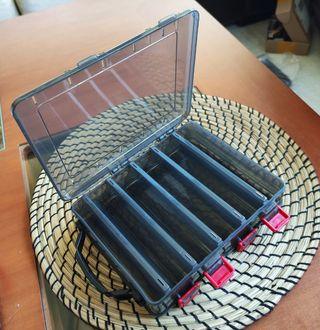 Caja Dura Doble Cara para Señuelos Negra 200x170mm