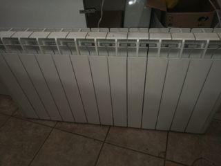 radiador, estufa calor azul