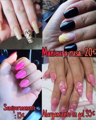 manicura Rusa, semipermanente, uñas de gel