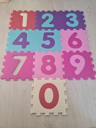 Alfombra Puzzle números