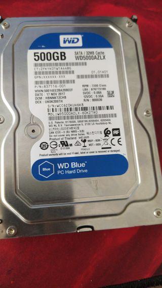 Disco duro 500gb WD BLUE