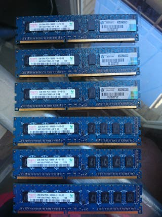 Memorias 2Gb 2Rx8 PC3 WorkStation HP Z40 (12Gb)