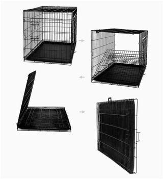 Jaula Plegable de Metal para Perro, Gato y Mascota