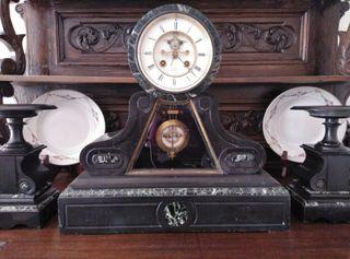Urgente! Reloj antiguo mármol Napoleón III