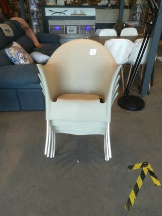 Lote de 4 sillas patio apilable