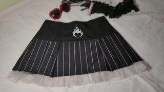 Mini falda M Raya diplomática en negro y blanco