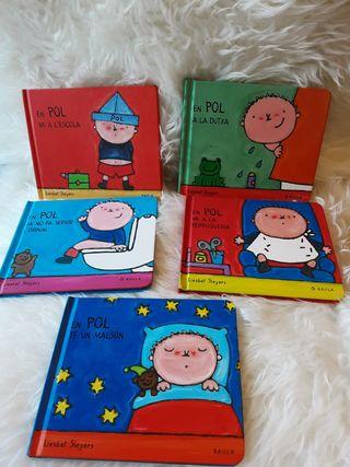Lote 5 libros infantiles EN POL. NUEVO!