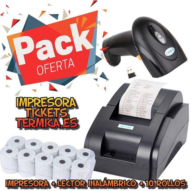 PACK IMPRESORA + LECTOR INALAMBRICO + PAPEL